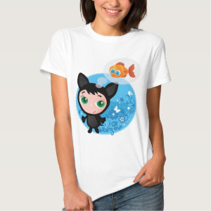 Cute funny kitten vector illustration shirt
