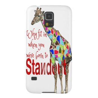 Cute giraffe quote - Standout Cases For Galaxy S5