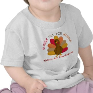 CUTE Gobble Till You Wobble 1st Thanksgiving Shirt