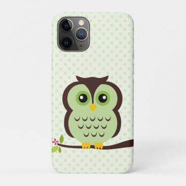 Cute Green Owl iPhone 11 Pro Case