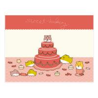cute greetings postcard