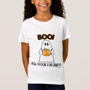 Cute Halloween Ghost Candy T-Shirt
