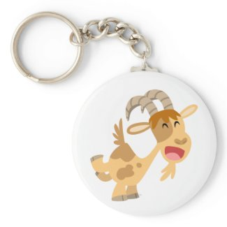 Cute Happy Cartoon Goat Keychain keychain