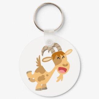 Cute Happy Cartoon Goat Keychain keychain