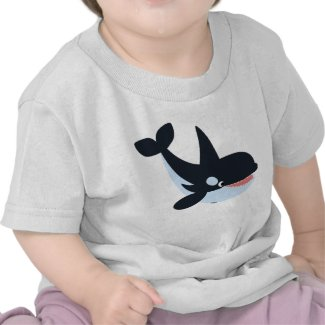 Cute Happy Cartoon Killer Whale Baby T-Shirt