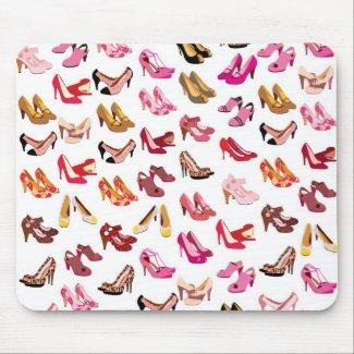 Cute high heals shoe fashion pattern mouse pad