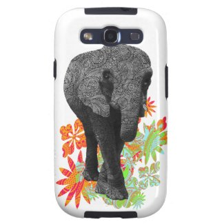 Cute Hippie Elephant Samsung Galaxy S3 Cases