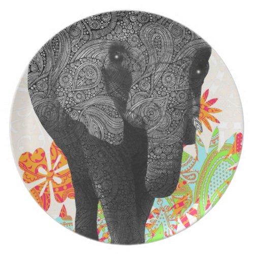 Cute Hippie Elephant fuji_plate