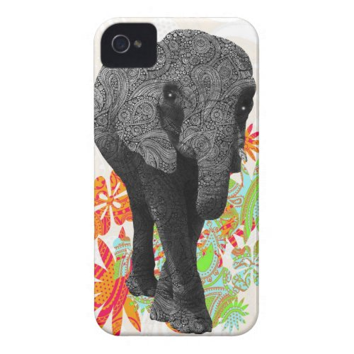 Cute Hippy Elephant casemate_case