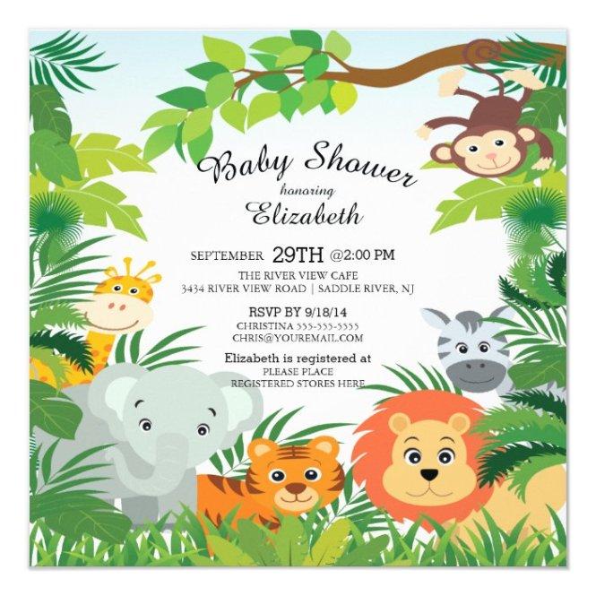 Cute Jungle Safari Baby Shower