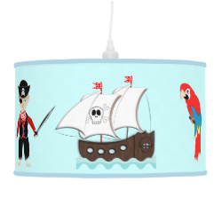 Cute Kids Pirate Themed Graphic Hanging Pendant Lamp