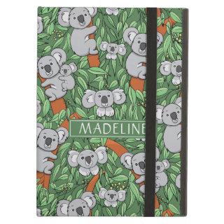 Cute Koala Pattern Personalize Green Case For iPad Air