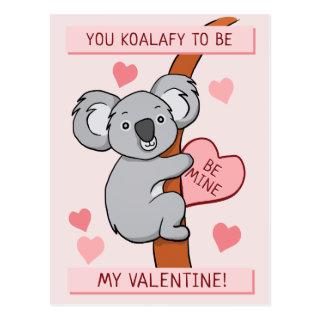 Cute Koala-ty Valentine Postcard