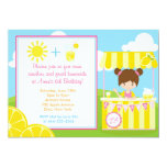 Cute Lemonade Design with Girl Invitation