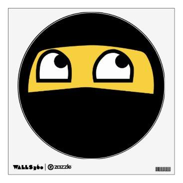 Cute lil' ninja emoji wall sticker