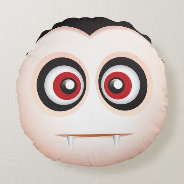 Cute lil vampire emoji - I want to suck your blood Round Pillow