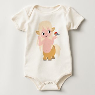 Cute Little Cartoon Centauress Baby T-Shirt shirt