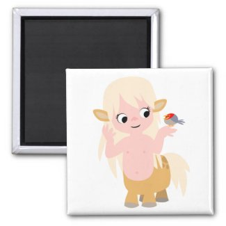 Cute Little Cartoon Centauress Baby T-Shirt magnet
