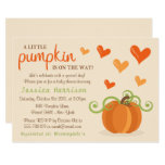 Cute Little Pumpkin Baby Shower Invitations