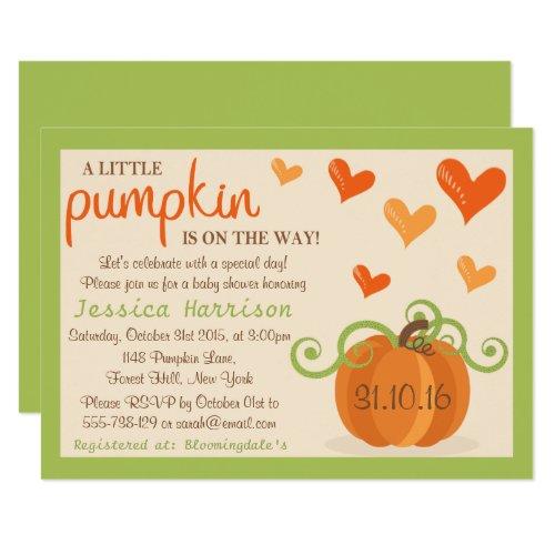 Pumpkin baby shower invitations gifts fromaparrottsnest owl and pumpkin baby shower invitations cute little pumpkin baby shower invitations filmwisefo