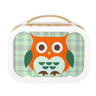 Cute Orange Owl Lunch Box