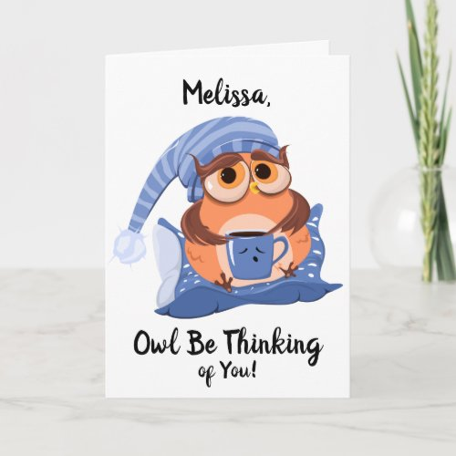 Cute Owl Get Well Greeting Card