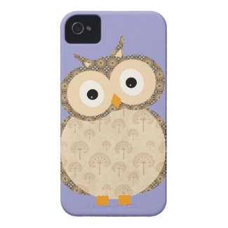Cute Owl - purple background casematecase