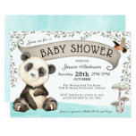 Cute Panda Bear Baby Shower Invitation