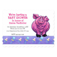 Cute Pig Baby Shower Card