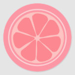❤️ Cute Pink Lemon Classic Round Sticker