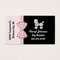 Cute Poodle Dog Groomer Business Card