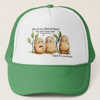 Cute Potatoes Has Toes Funny Potato Pun  Trucker Hat