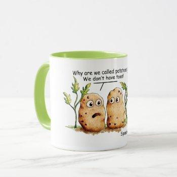 Cute Potatoes Toes Funny Potato Pun Coffee Mug