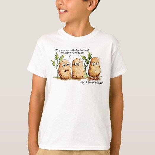 Cute Potatoes Toes Funny Potato Pun  T-Shirt
