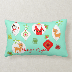 Cute Retro Style Festive Themed Home Decor Throw Pillows