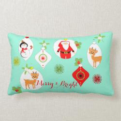 Cute Retro Style Festive Themed Home Decor Throw Pillows