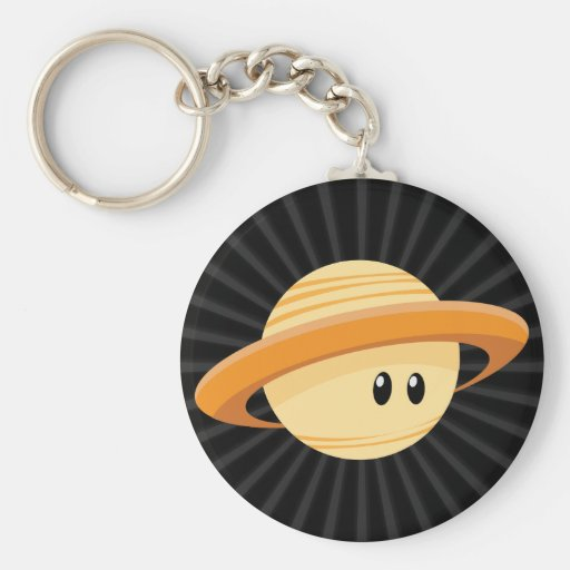 Cute Saturn Planet Keychain Zazzle