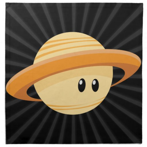 Cute Saturn Planet Napkin Zazzle