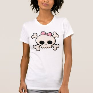 Cute Skull Girl T Shirt