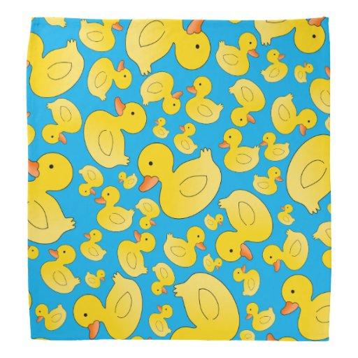 Cute Sky Blue Rubber Ducks Bandana Zazzle