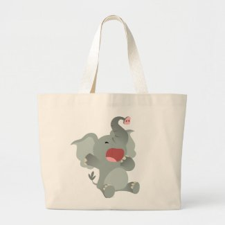 Cute Sleepy Cartoon Elephant Bag bag