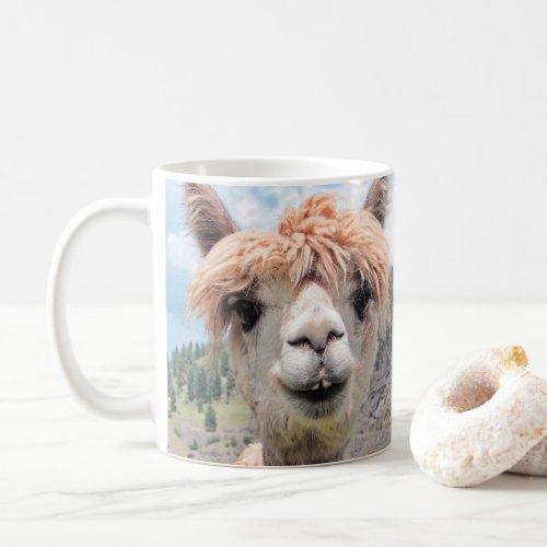 Cute Smiling Alpaca Photo Image Coffee Mug