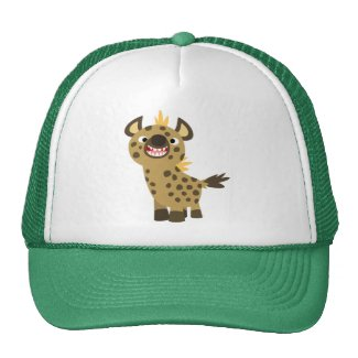 Cute Smiling Cartoon Hyena Hat
