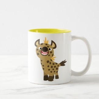Cute Smiling Cartoon Hyena Magnet Coffee Mug