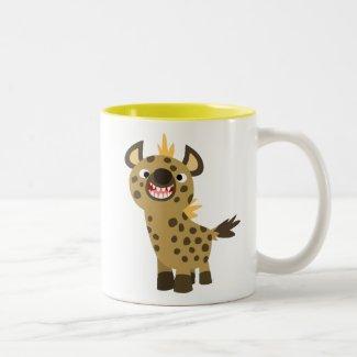 Cute Smiling Cartoon Hyena Magnet Coffee Mug