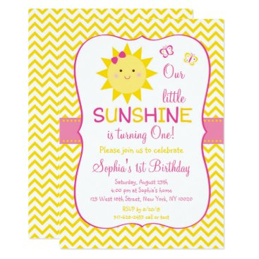 Cute Sunshine First Birthday Card
