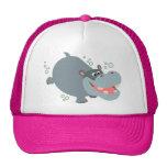 Cute Swimming Cartoon Hippo Hat