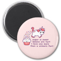 Cute Unicorn Fart Magnet