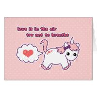 Cute Unicorn Valentine Card