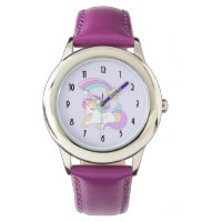 Cute Unicorn with Colorful Shooting Star Wrist Watch